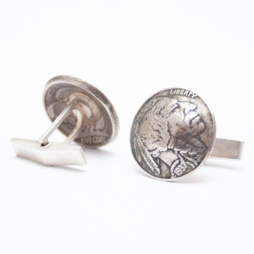 Old Nickel Cufflinks