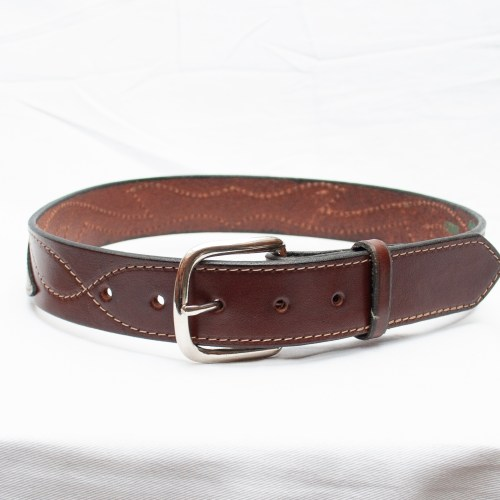 Plain Brown Leather Belt