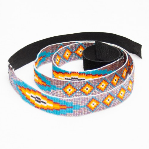 Zuni Beaded Headband Hatband