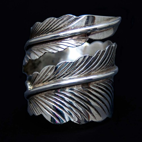 Silver Feather Wraparound Ring