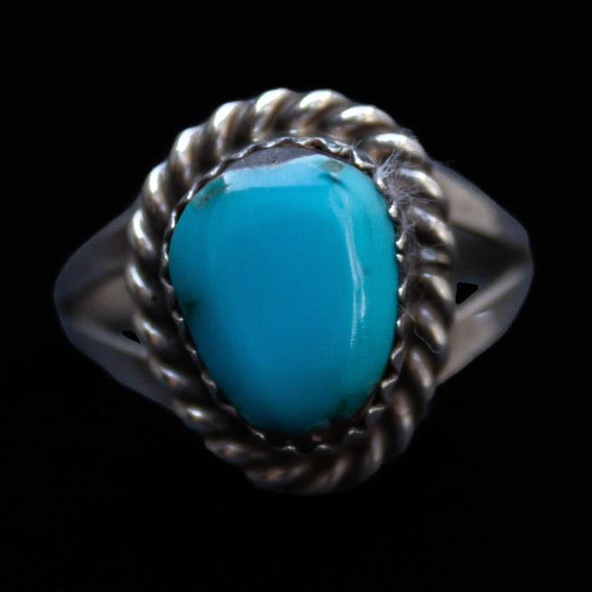Small Navajo Turquoise Ring