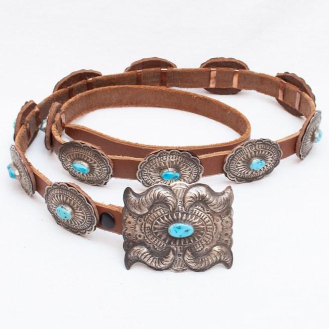 Vintage D.M. Begay Turquoise Concho Belt