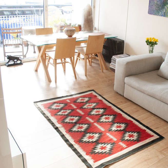 1930's Red Area Rug