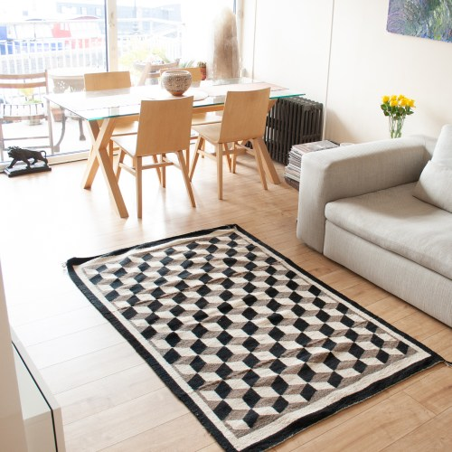 Black White Optical Rug