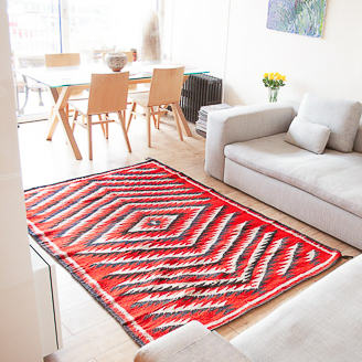 Transitional Red Navajo Rug