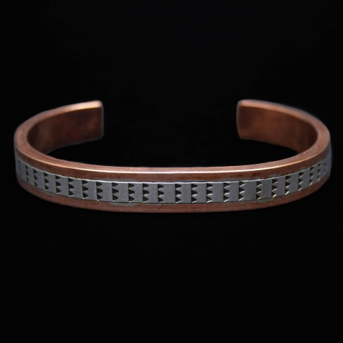 Wylie Secatero Copper Silver Bracelet