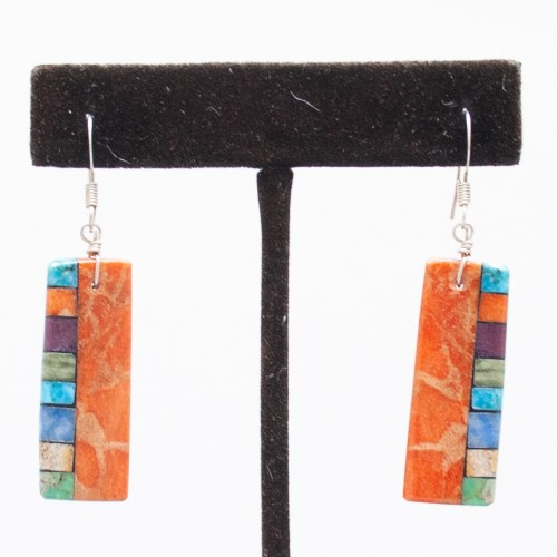 Multicolour Slab Earrings
