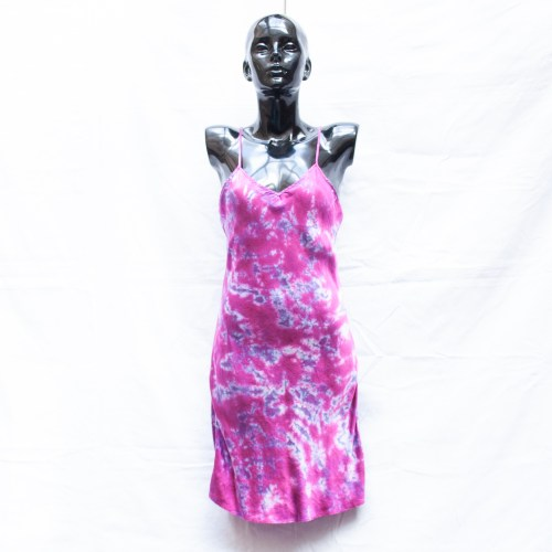 Pink Silk Dress M