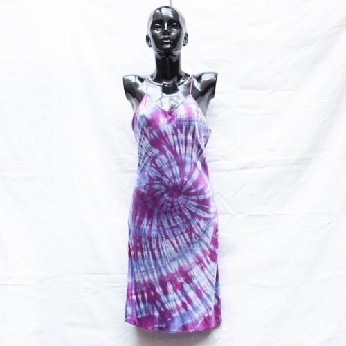 Purple Silk Dress L