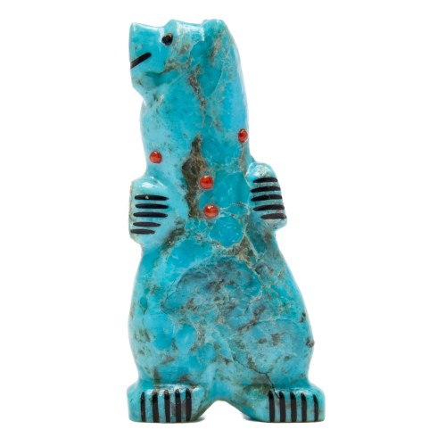 Claudia Peiña Turquoise Bear Carving