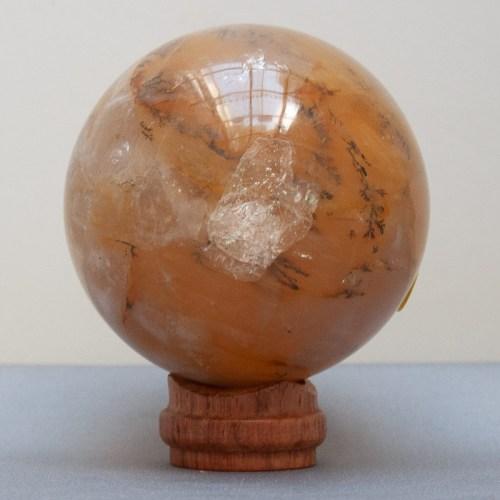 Boule de Cristal Quartz Hématoïde Jaune