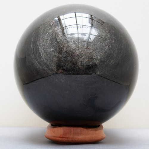 Grey Sheen Obsidian Crystal Ball