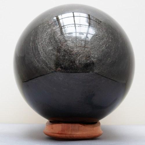 Grey Sheen Obsidian Crystal Ball