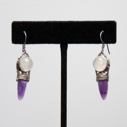 Amethyst Moonstone Earrings