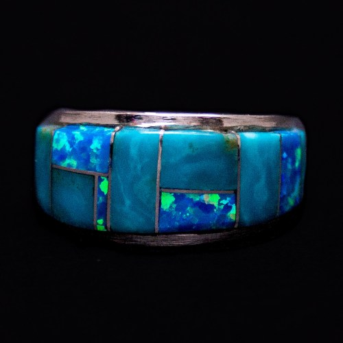 Edison Yazzie Turquoise Opal Ring