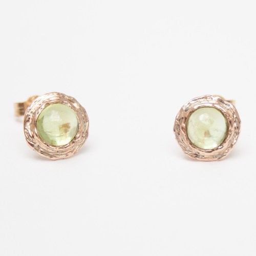 9K Gold Peridot Stud Earrings