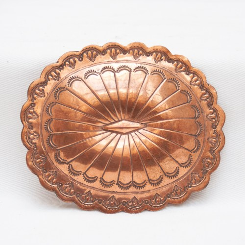 Marcella James Navajo Copper Belt Buckle
