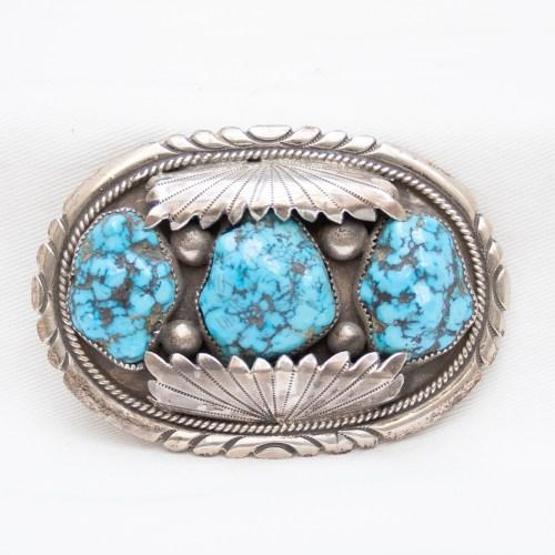 Robert Bernice Leekya Turquoise Belt Buckle