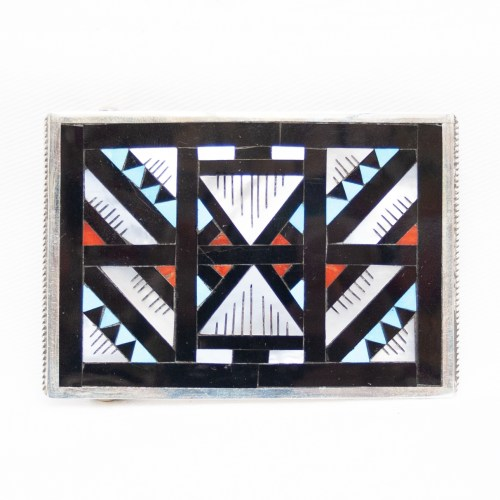Leander Lisa Othole Zuni Inlay Belt Buckle