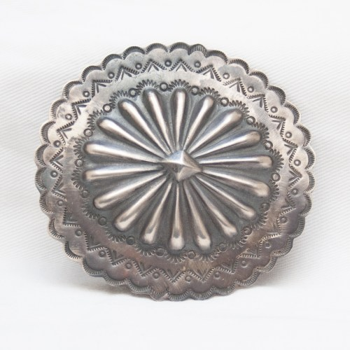 Rocki Gorman Sterling Silver Navajo Belt Buckle