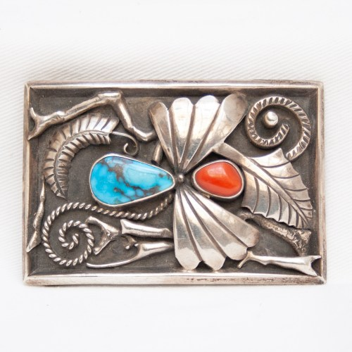 Vintage Turquoise Coral Buckle