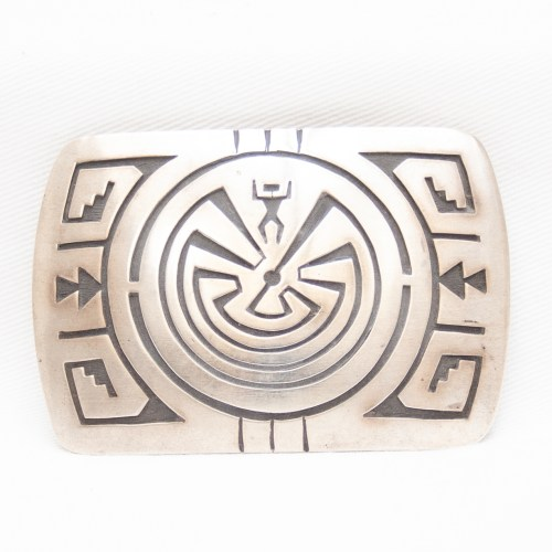 I'Itoi Man In The Maze Sterling Silver Belt Buckle