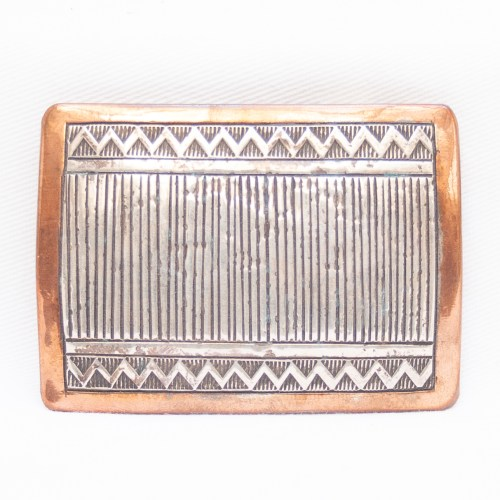Wylie Secatero Sterling Silver Copper Belt Buckle