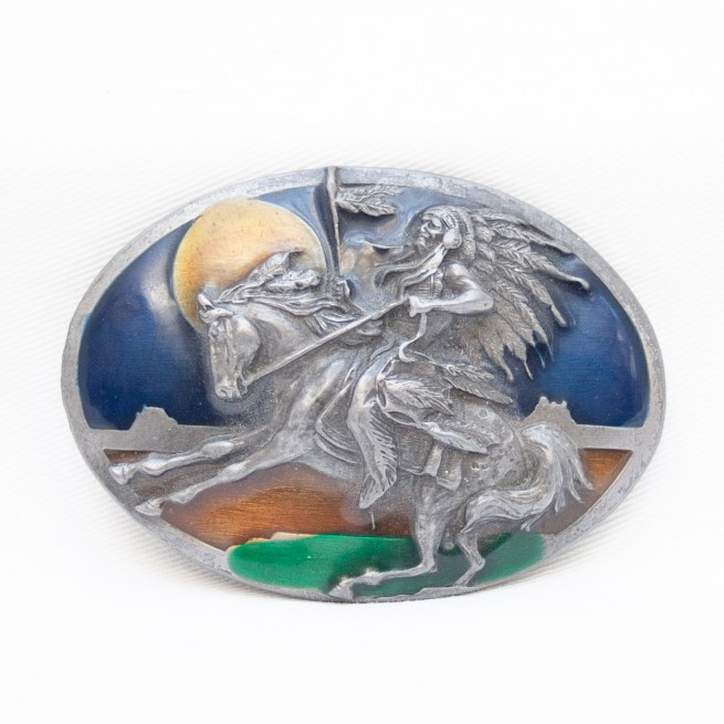 Siskiyou Steel Resin Horse Riding Chief Belt Buckle