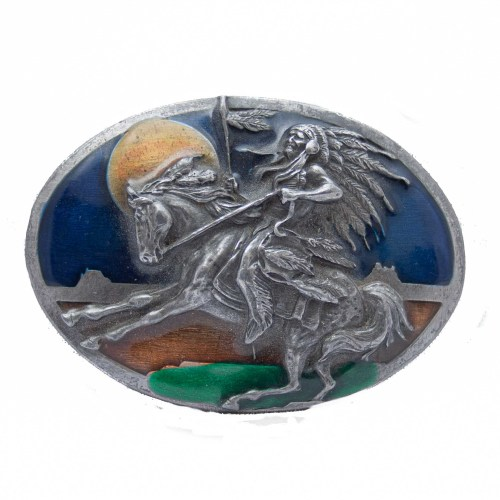 Horse Riding Chief Belt Buckle