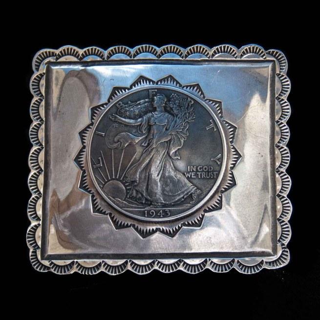 Liberty Coin Belt Buckle