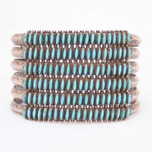 Turquoise Needlepoint Bracelet