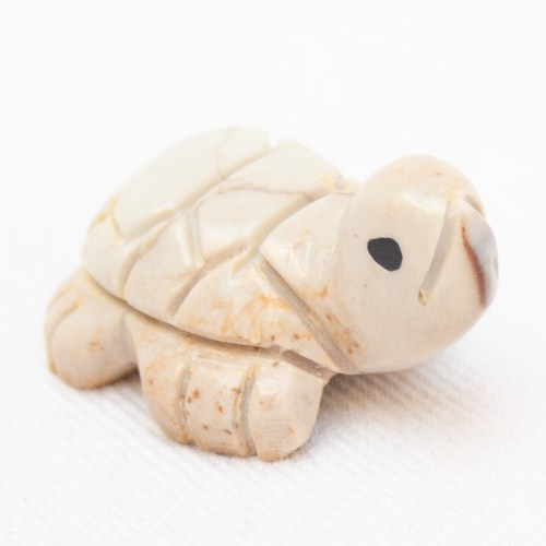 Small Beige Turtle Carving