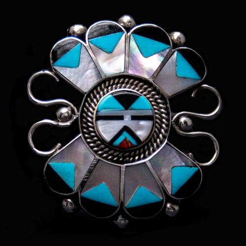 Zuni Inlay Kachina Ring