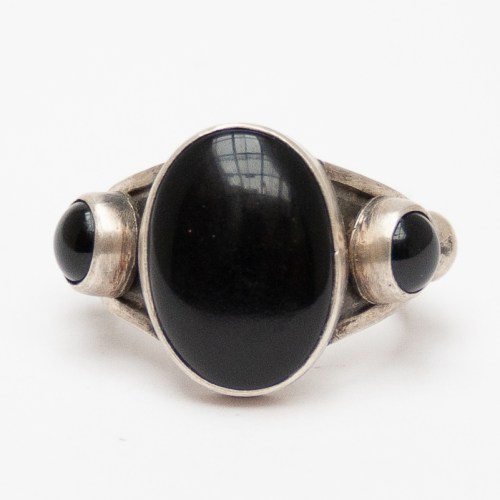 Black Jet Navajo Ring