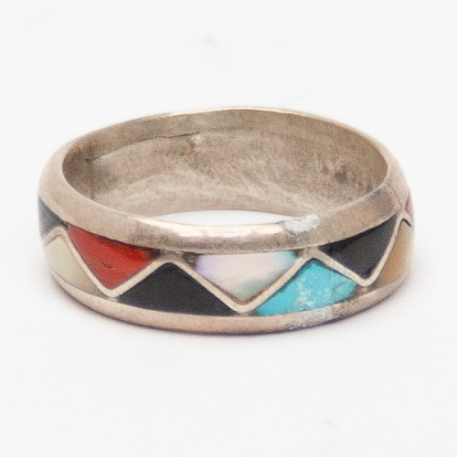 Multicolour Zuni Zigzag Ring
