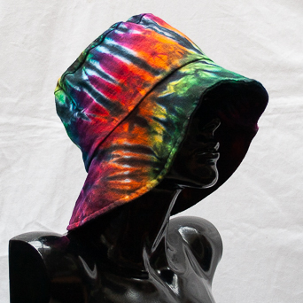 Multicolour Tie-Dye Hat Large