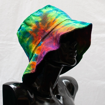 Rainbow Tie-Dye Hat Large