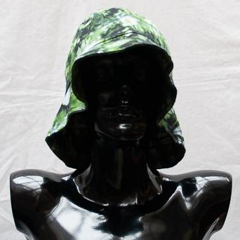 Green Tie-Dye Hat Large