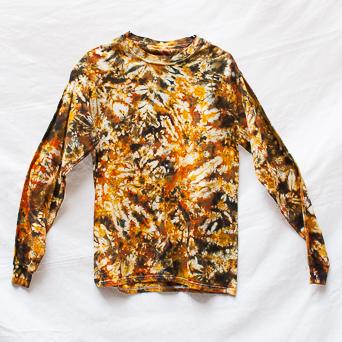 T-Shirt Manches Longues Tie-Dye Marron M