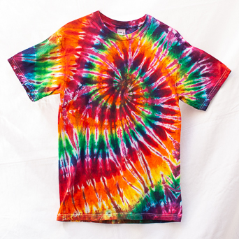 Hypnotic Spiral Design T-Shirt M