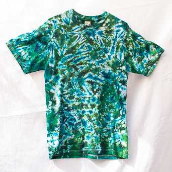 Blue Green White T-Shirt M