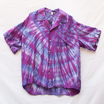 Lilac Wine Silk Shirt L