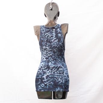 Monochrome Tie-Dye Vest XL