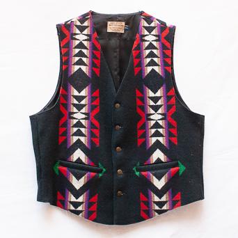 Black Vintage Pendleton Waistcoat