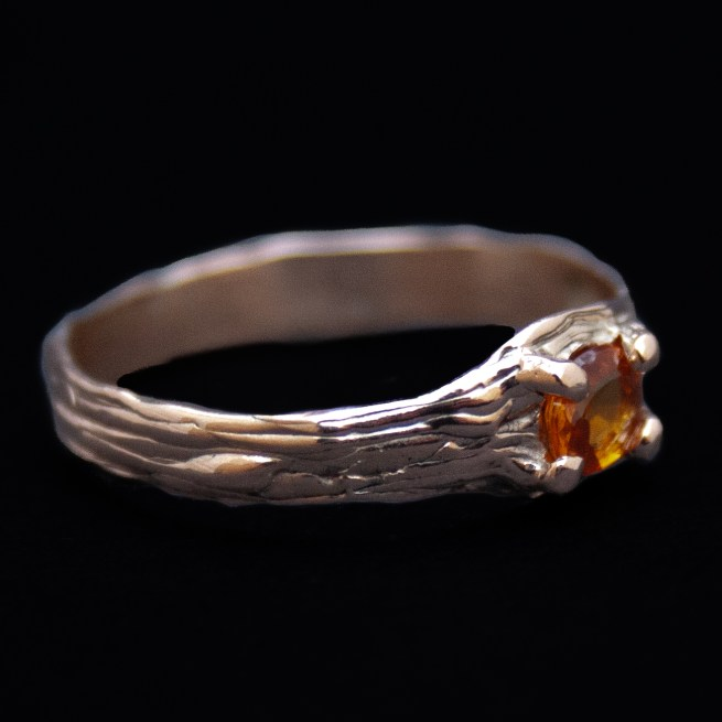 9K Gold Red Sapphire Ring