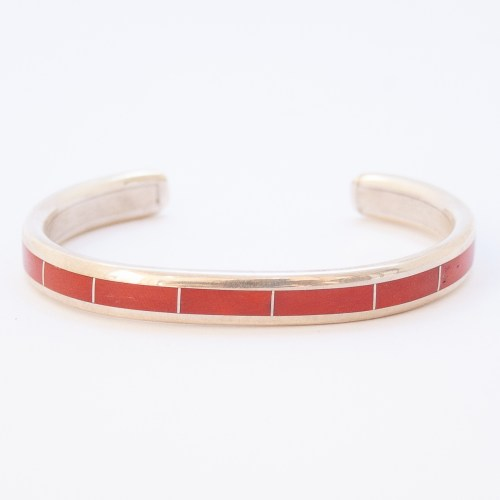 Native American Red Coral Loretto Bracelet