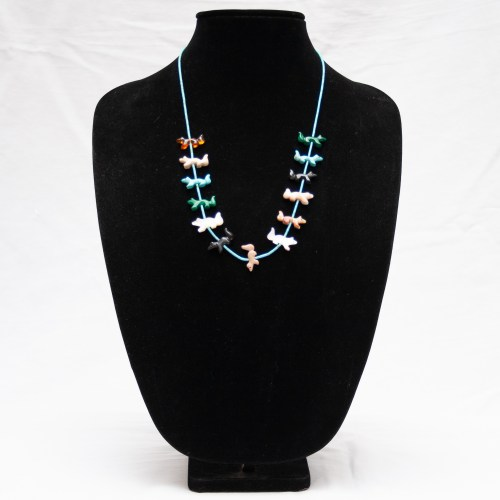 Native American Zuni Wolf Necklace