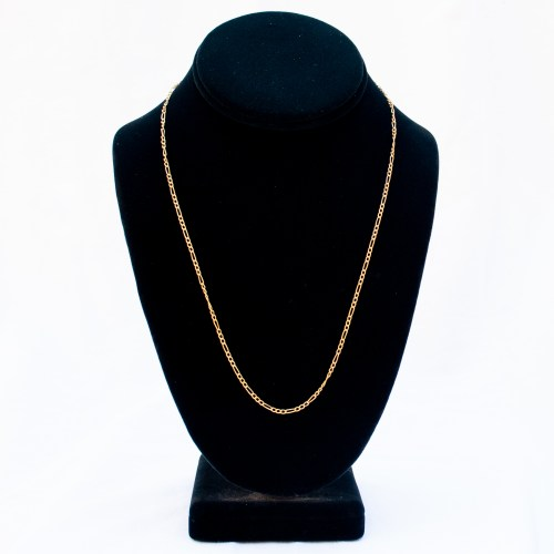 18K Gold Figaro Gold Chain 20""