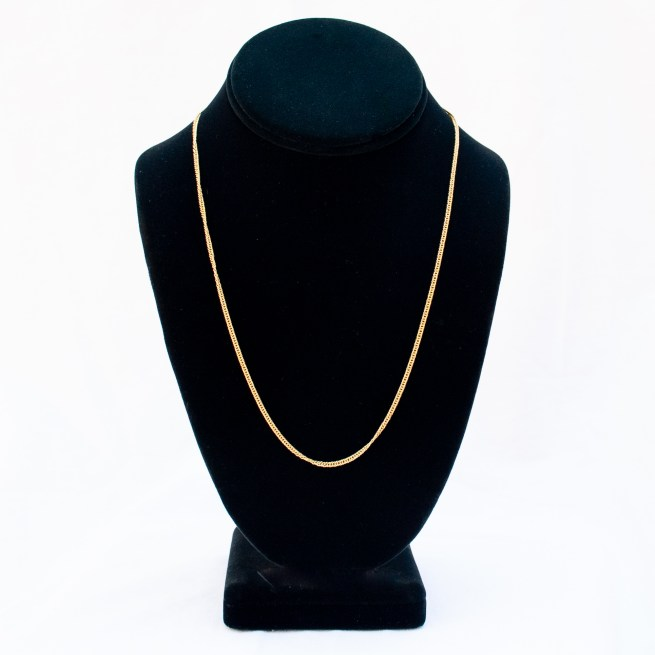 """18K Gold Gourmette Link Chain 20"""""""