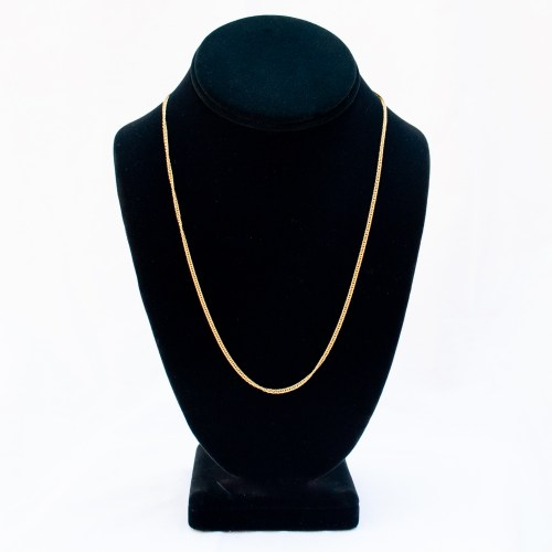18K Gold Gourmette Link Chain 20""